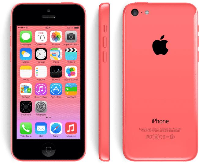 apple iphone 5c rose 8 go prix monpetitmobile. Black Bedroom Furniture Sets. Home Design Ideas