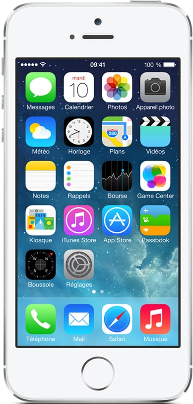 apple iphone 5s argent 64 go prix monpetitmobile. Black Bedroom Furniture Sets. Home Design Ideas