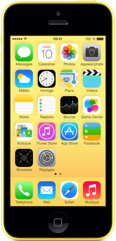 apple iphone 5c jaune 16 go prix monpetitmobile. Black Bedroom Furniture Sets. Home Design Ideas