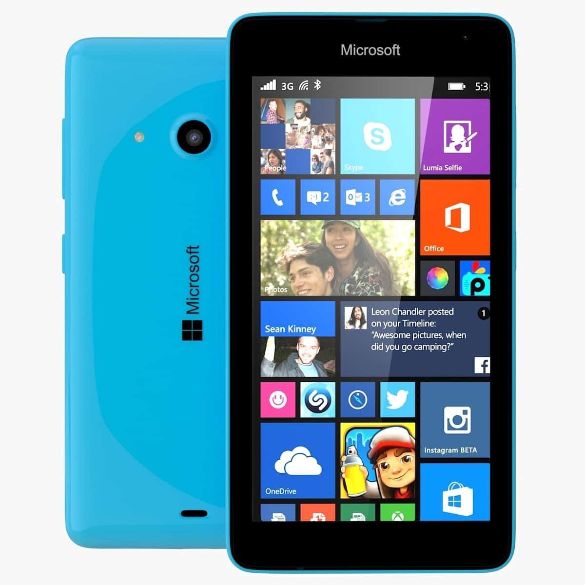 Microsoft Lumia 535 Bleu 8 Go on Mon Core