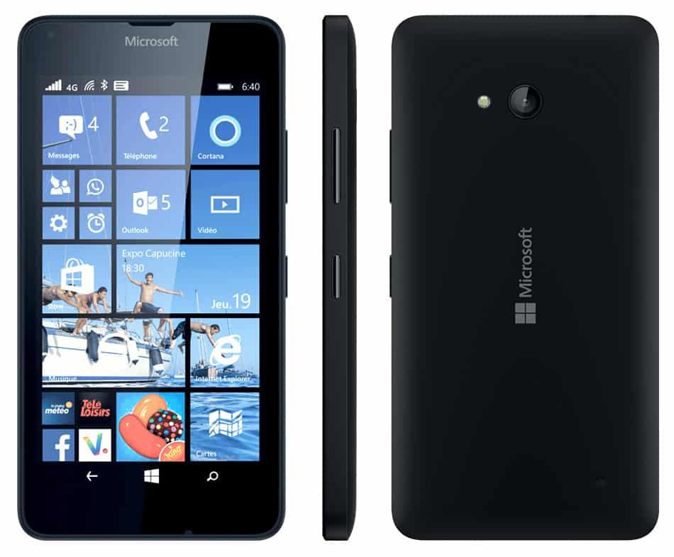 Microsoft lumia 640 noir 8 go prix monpetitmobile for Photo ecran lumia 640