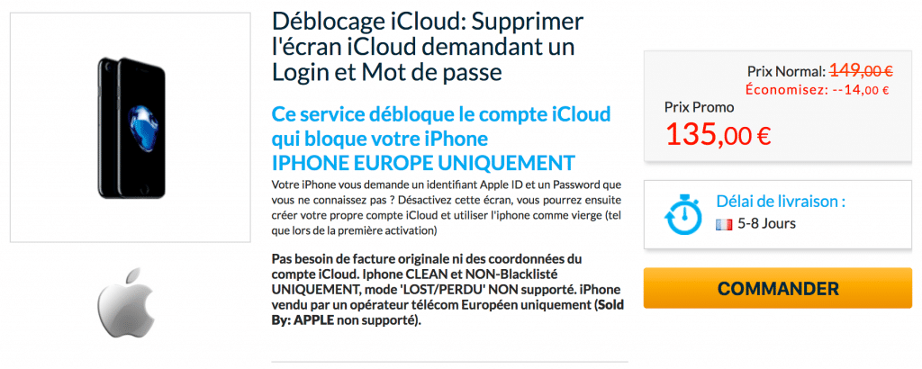 Débloquer iPhone iCloud