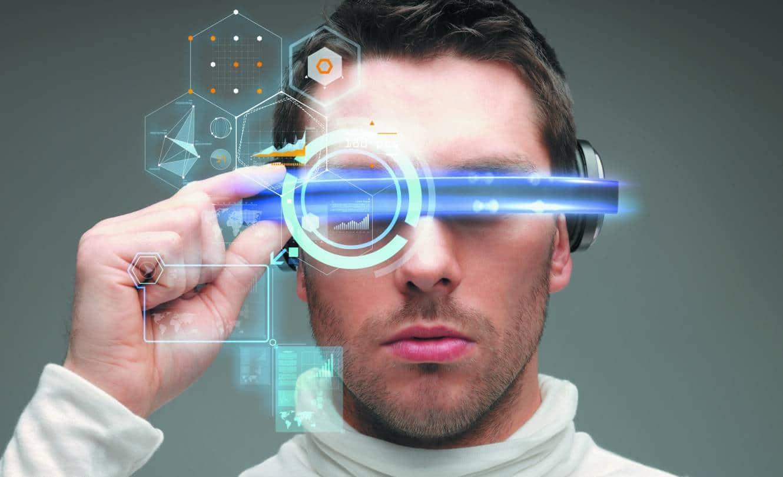 un visuel de réalité augmentée sur lunettes