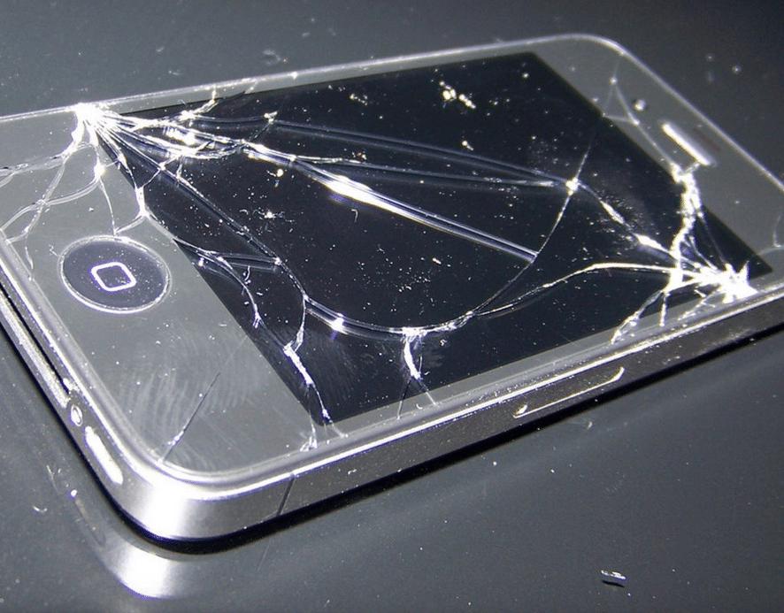 Ecran d'iPhone cassé