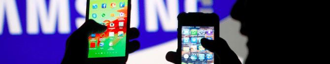 samsung contre apple : un procès à 533 millions d'euros.