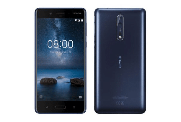 Nokia 8 design face dos