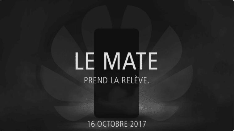 Le Mate 10 de Huawei sera présenté le 16 octobre prochain