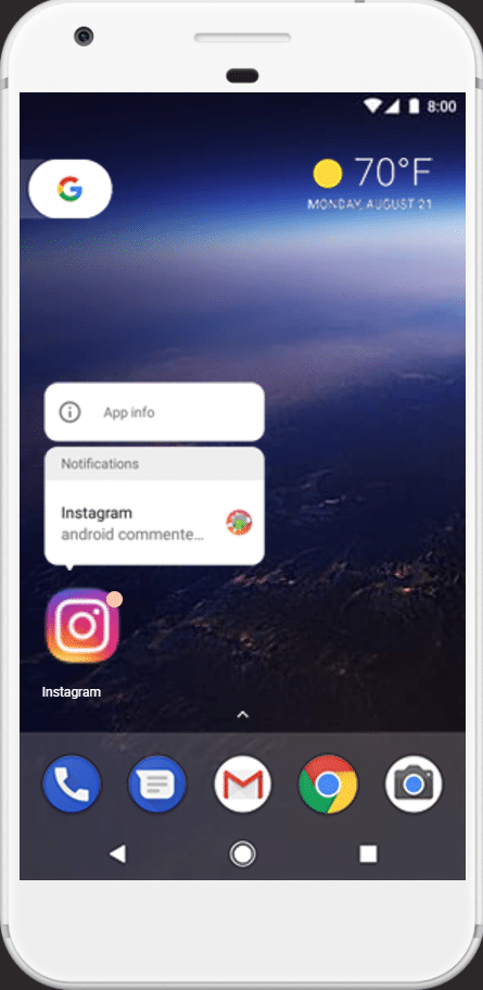 Plus besoin d'ouvrir les applications pour recevoir les dernières notifications sur Android Oreo