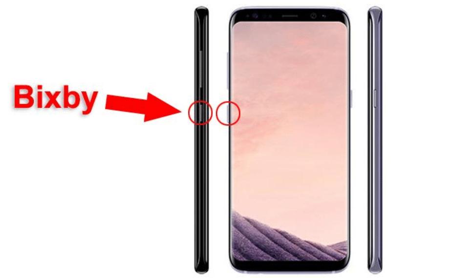 Le bouton de lancement de Bixby de Samsung se trouve sous les boutons de contrôle du volume