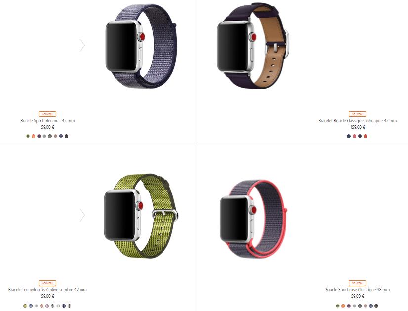 Les bracelets de l'Apple Watch seront aussi aux couleurs de l'automne