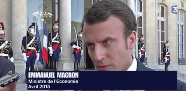 Emmanuel Macron au micro de France 3