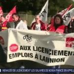 Suppression de postes : les salariés de Nokia manifestent et appellent Macron à l'aide