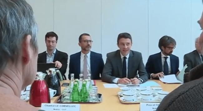 La rencontre entre Griveaux et les représentants syndicaux de Nokia