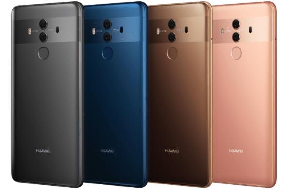 Le Huawei Mate 10 Pro est disponible en quatre coloris