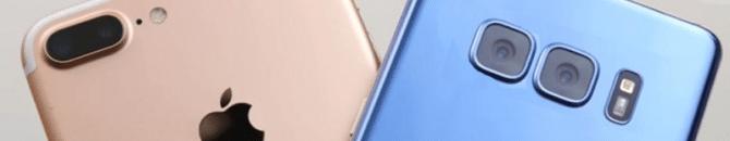 L'iphone 8 Plus et le Galaxy Note8 sont les meilleurs photophones du marché