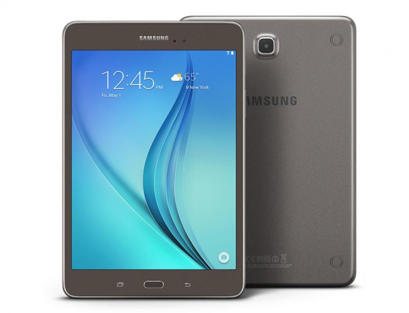 Vue de la tablette Samsung Galaxy Tab A
