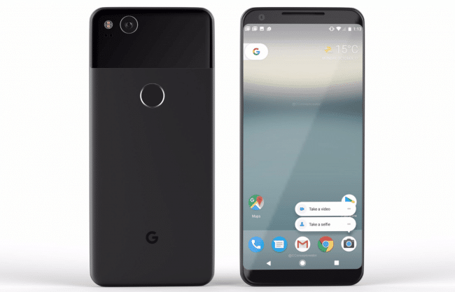 Vu recto-verso du Pixel 2 de Google