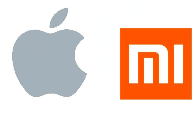 Logo d'Apple et de de Xiaomi
