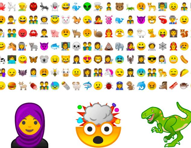 Les émojis de la dernière version d'Android et ce à quoi elles ressemblent.