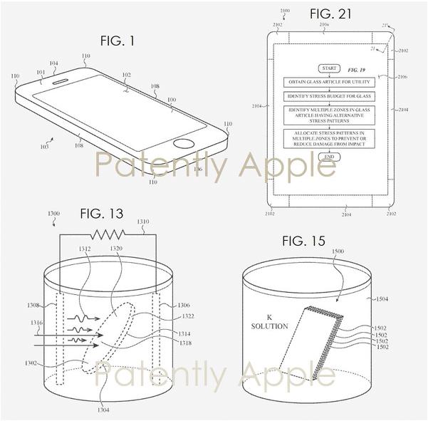 Fiche technique du brevet de verre incassable déposé par Apple.
