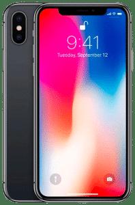iPhone X – Noir (Gris sidéral) 64 Go