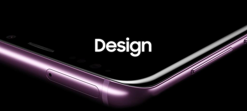 Design du Galaxy S9 de Samsung