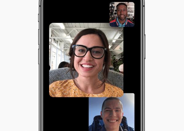 Jusqu'à 32 personnes pourront communiquer ensemble grâce à la nouvelle application FaceTime de Apple disponible avec iOS 12.