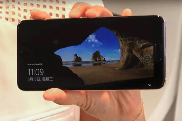 Windows 10 sur smartphone Huawei.