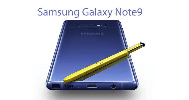 Le Galaxy Note9 de Samsung.