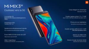 """""""Coulissez vers la 5G"""" raconte Xiaomi en nous présentant le nouveau Xiaomi Mi Mix 3 compatible 5G à l'occasion du MWC 2019"""