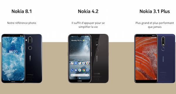 Aperçu des smartphones proposés par Nokia et de leurs appellations jugées complexes