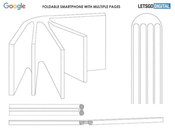 Le smartphone pliable de Google pourrait avoir quatre écrans