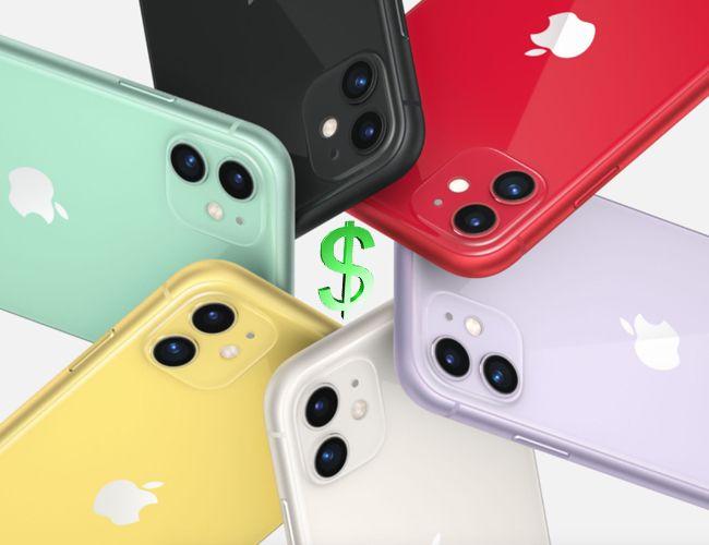 Les iPhone d'Apple en tête des ventes côté chiffre d'affaire.
