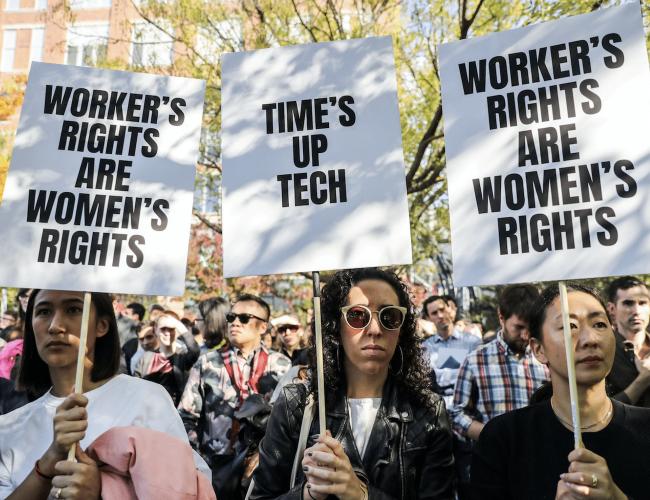 Rassemblement des salariés de Google contre le racisme et le sexisme