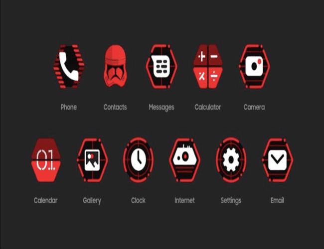 interface nouvelles icônes