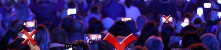 Les smartphones bientôt rayés du paysage durant les spectacles.