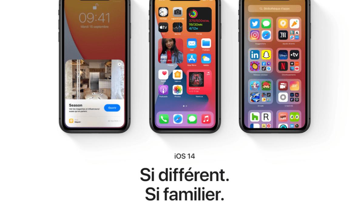 Mise à jour iOS14